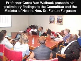 Professor Corne Van Walbeek Presents his findings