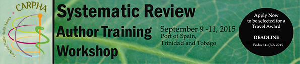 Systematic Review Author Training Workshop