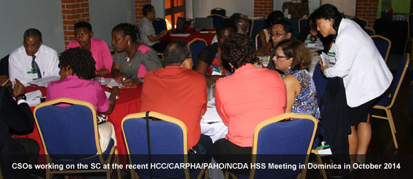 Caribbean Civil Society Committs to playing their role in Health Systems Strengthening