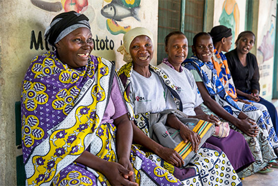 Woman being screened for cervical cancer in a rural clinic