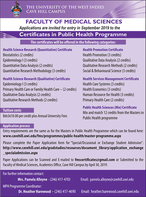 Certificates in Public Health