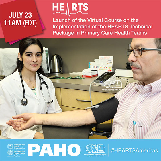 Virtual Course on the Implementation of the HEARTS Technical Package in Primary Health Care