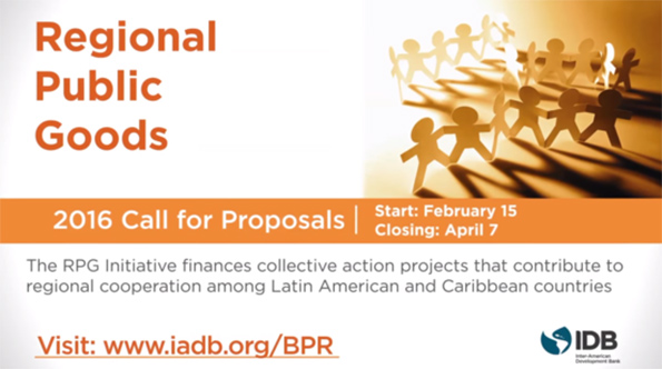 Initiative for the Promotion of Regional Public Goods 2016 Call for Proposals