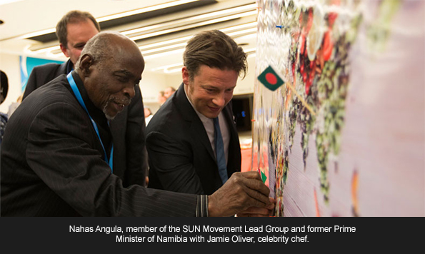 Chef and Campaigner Jamie Oliver Joins Ministers of Health at the 69th World Health Assembly