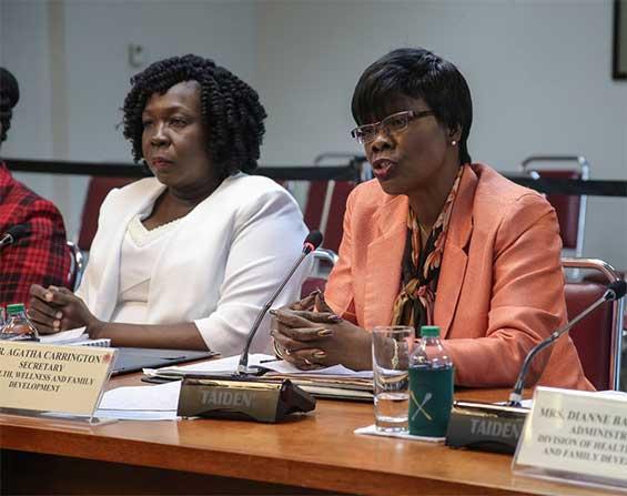Secretary for Health Dr Agatha Carrington