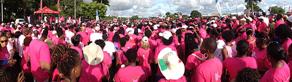 More than Ten Thousand in Barbados Breast Cancer Awareness Walk/Run