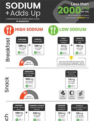Sodium Adds Up Infographic