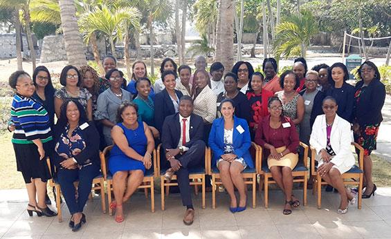Particpants attending the Curaçao workshop