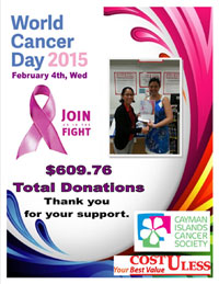 CostULess Customers Give to Cayman Islands Cancer Society