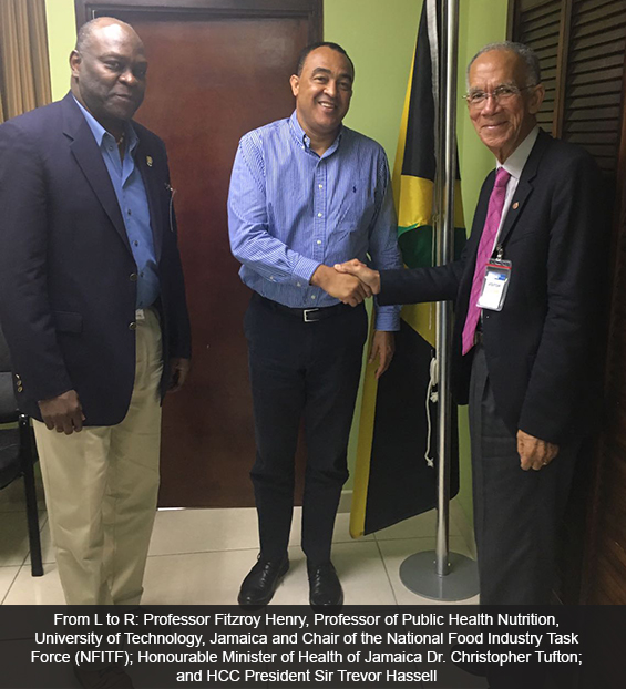 HCC President pays courtesy visit to Jamaica Minister of Health,  Dr. the Hon. Christopher Tufton
