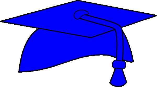 blue graduation cap with tassel