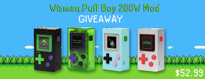 Giveaway Gameboy Wizman Puff Boy 200W Mod
