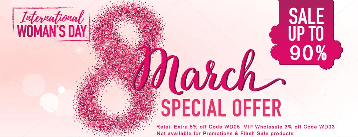 Happy Women's Day enjoy 5% off only one day!