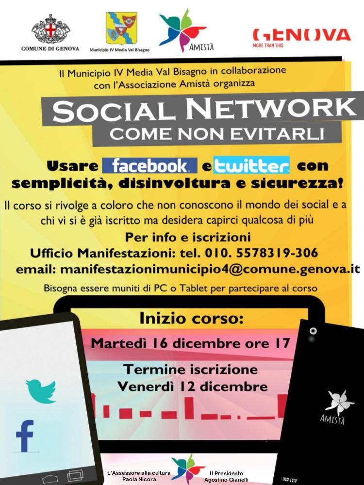 Locandina corso social network