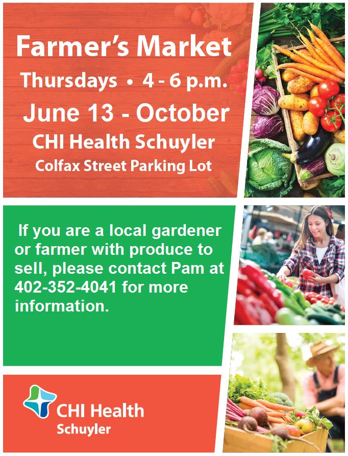 Farmer's Market @ CHI Health - Schuyler Colfax Street Parking Lot