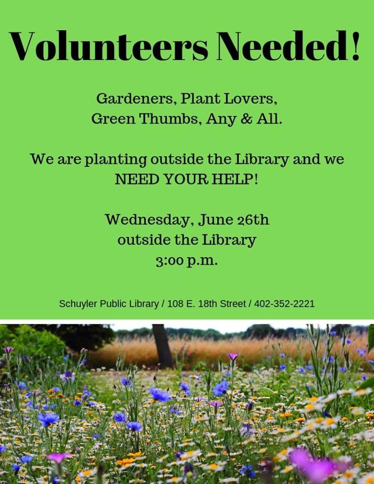 Volunteers Needed! @ Schuyler Public Library