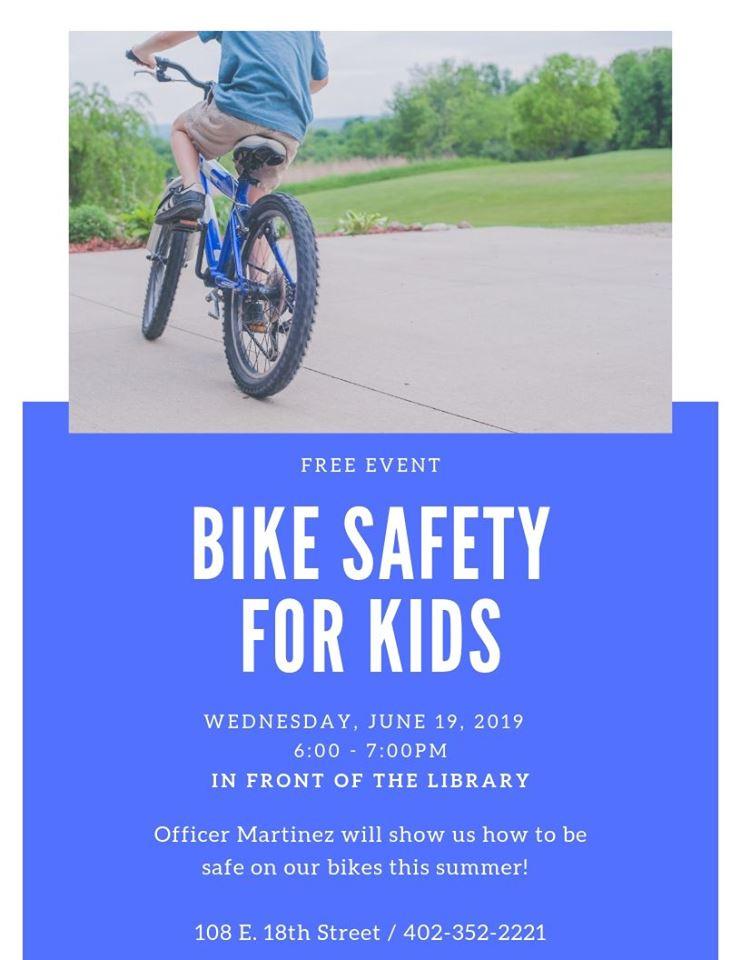 Bike Safety @ Schuyler Public Library