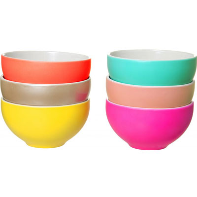 Schaaltjes Sorbet Pop Multi Colour set van 6 pt,