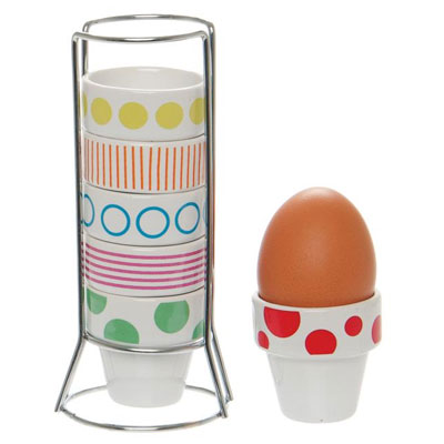 Eierset toren Dots & Stripes pt,