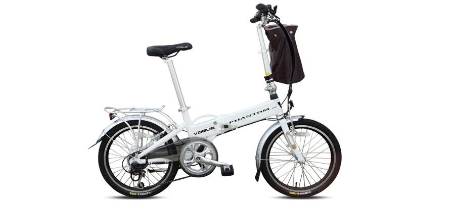 Vouwfiets E-bike Phantom 6 versnellingen grijs Vogue