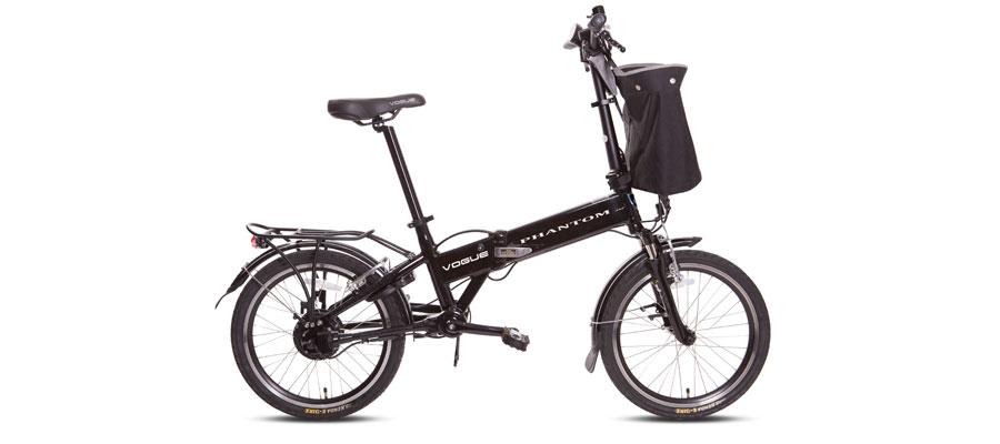 Vouwfiets E-bike 20 inch zwart Vogue