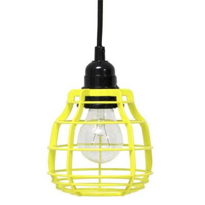 Lamp Lab geel met pendel HK Living