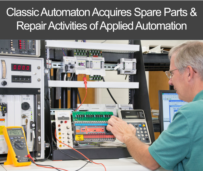 Classic Automaton Acquires Spare Parts and Repair Activities of Applied Automation