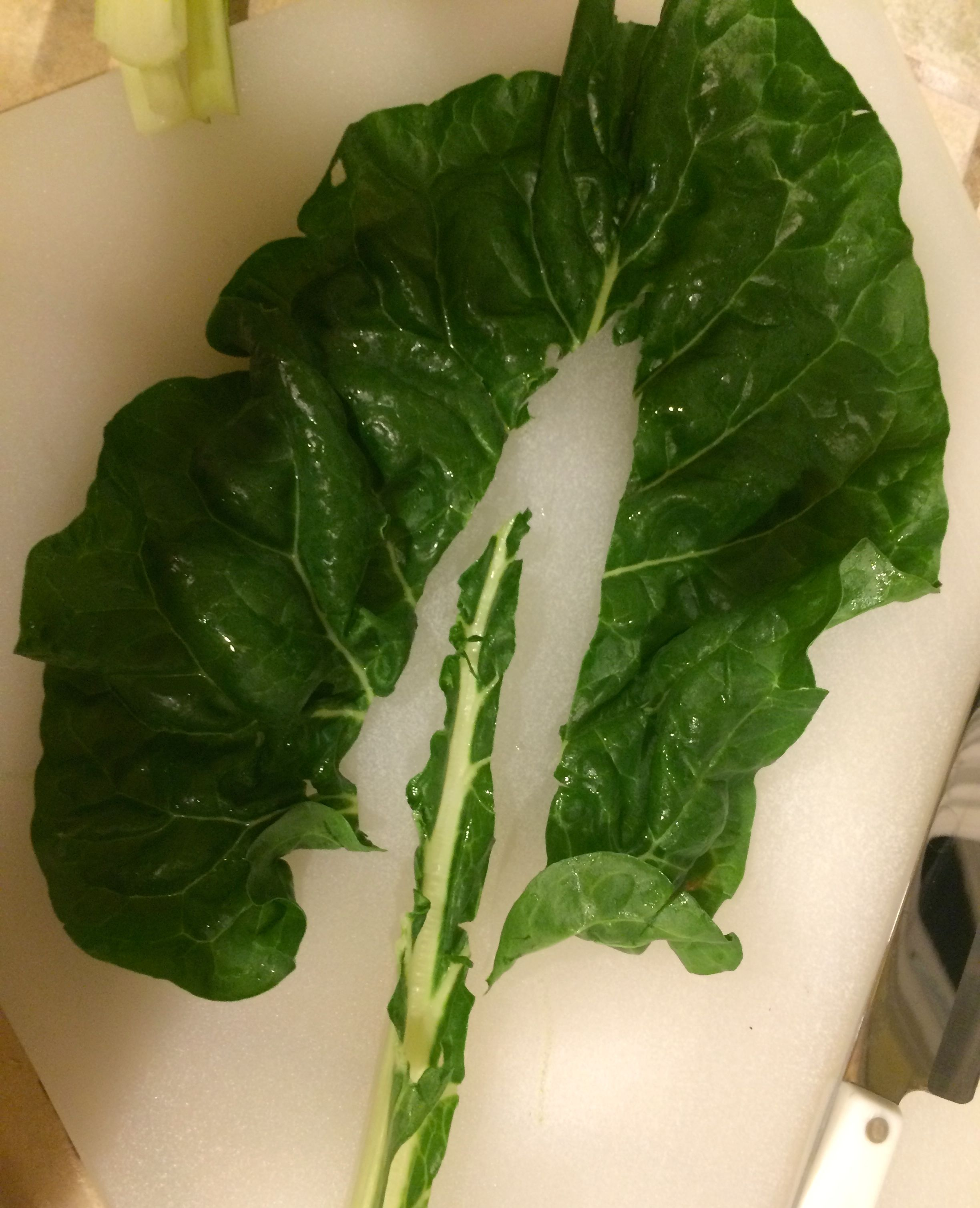 Swiss Chard leaf with the stem removed