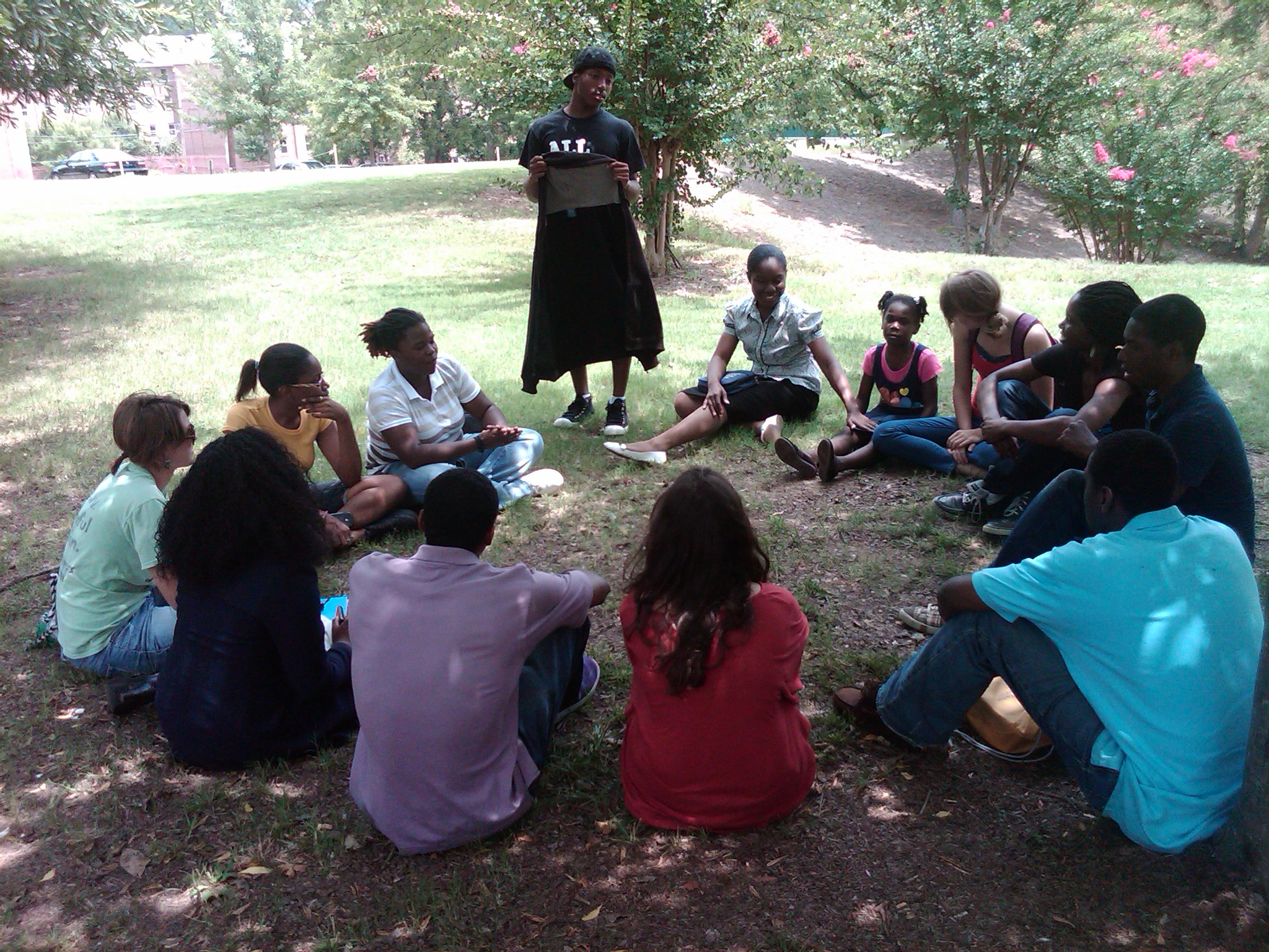 Students learning simple church planting at Morehouse College