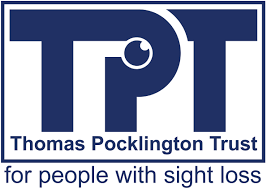 Logo: Thomas Pocklinton Trust - for people with sight loss