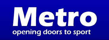 Logo: Metro - opening doors to sport