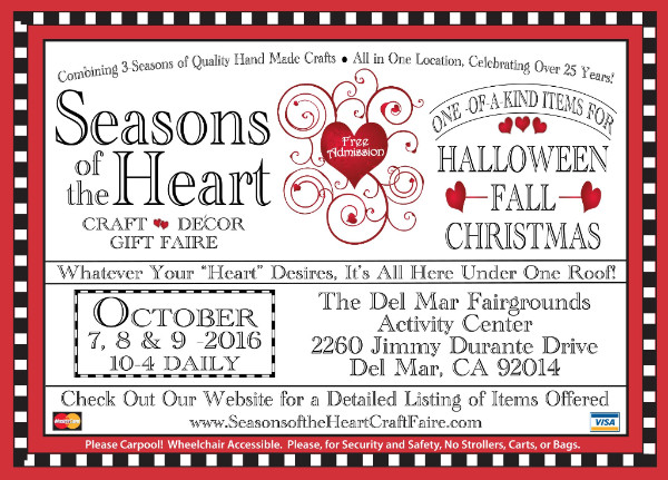 Seasons of the Heart Craft Show, Del Mar. California