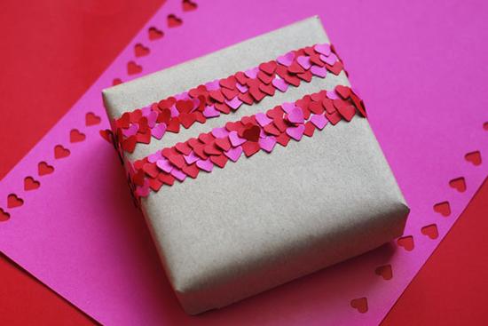 Heart confetti tape