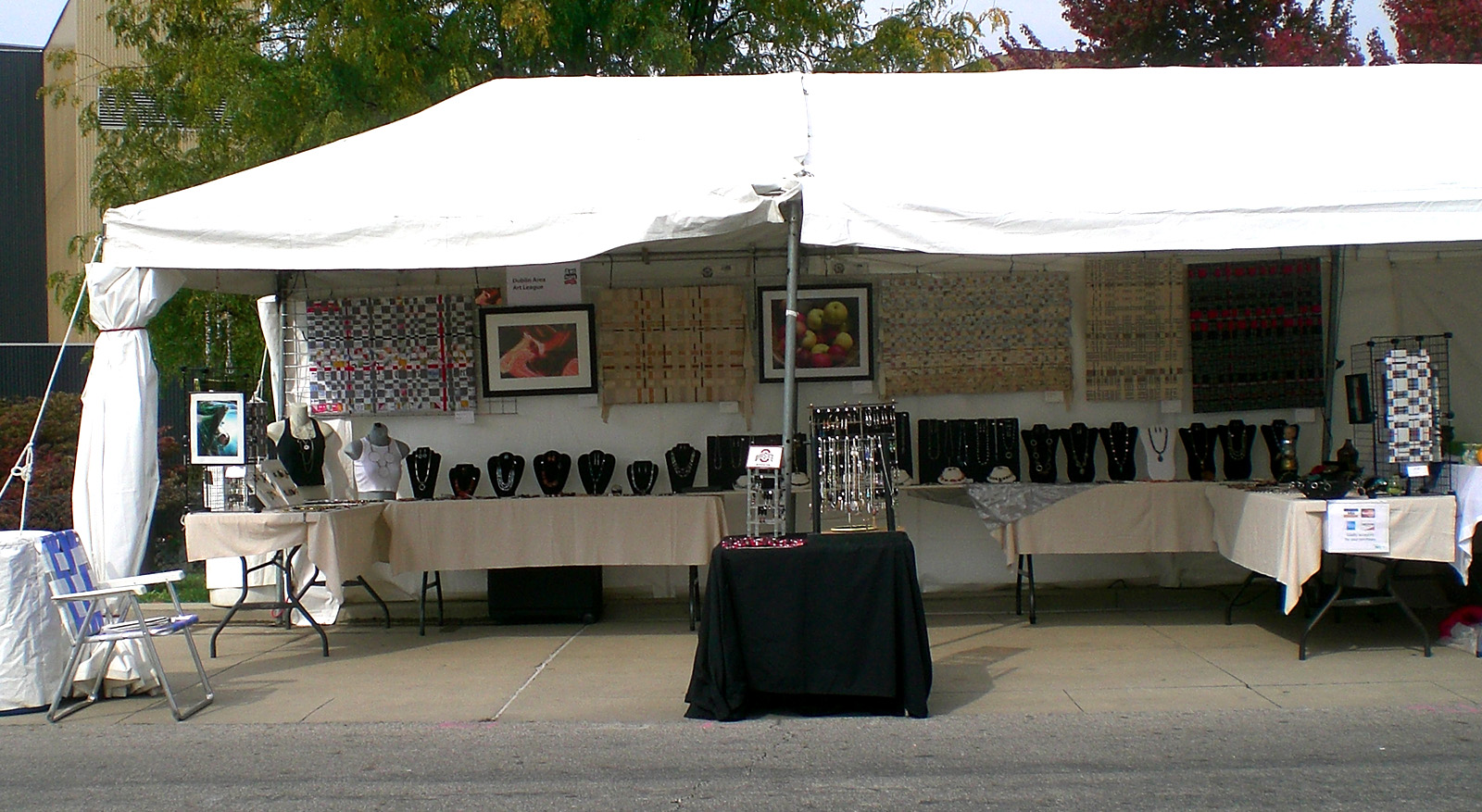 Gina and Paul Atwell at the Riverfront Art Festival