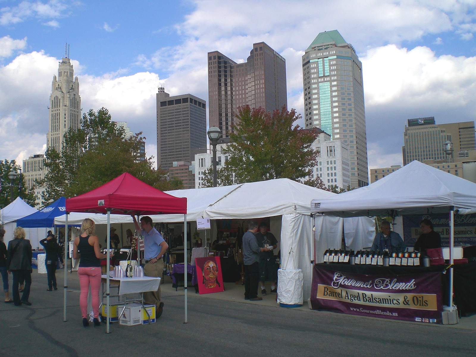 A view from Gina and Paul Atwell's booth at the Riverfron Art Festival