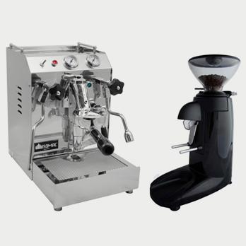 Isomac Tea Duo and Compak K3 Push in Black