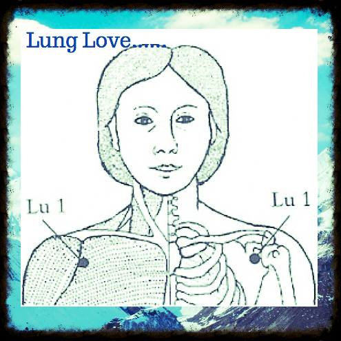 Lung Love...Acupressure for Cough, Asthma, Chest Congestion Lung 1: Central Palace: A central place where nourishing and invigorating energies are born. Slide your finger along your collarbone to the outer end, just above the armpit. Central Palace is the natural depression just under the collarbone and just above the armpit.