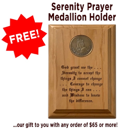 FREE Serenity Prayer Medallion Holder