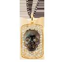 Sazingg's 925 Silver Skull IZ Tag