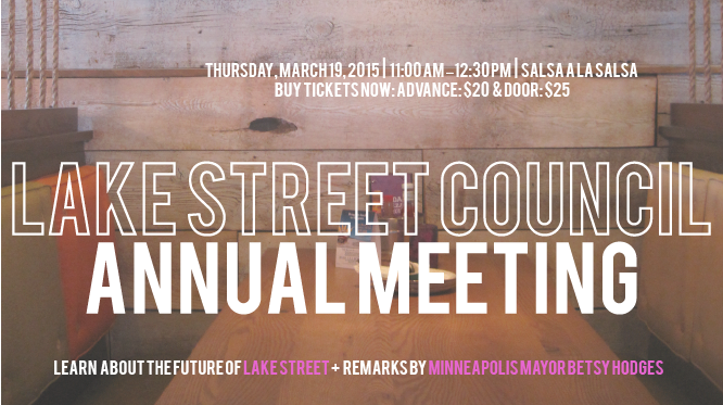 Advertisement for Lake Street Council Annual Meeting