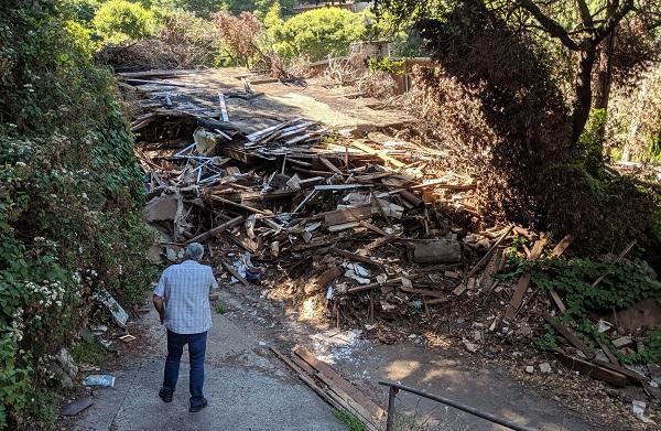 Mudflow Debris on Crescent Avenue
