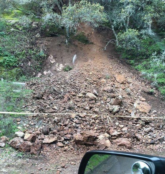 Landslide on Sausalito Blvd.