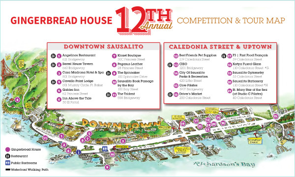 Gingerbread House Tour Map