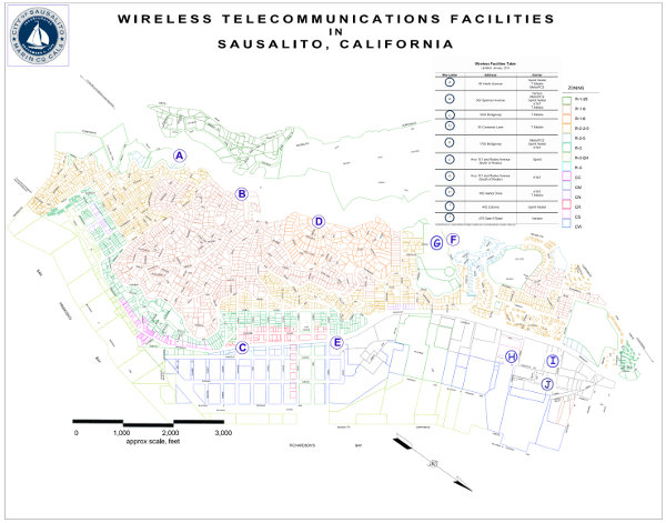 Map of Wireless Facilities