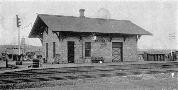 Castle Rock Depot, circa 1900. Reisle. Douglas County History Research Center