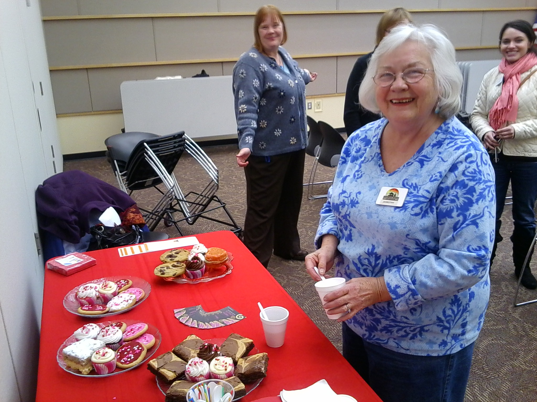 The Cakery at Castle Rock Historical Society Membership Meeting. Pictured: Dorothy Kelly, Shaun Boyd and Ashley Suarez.