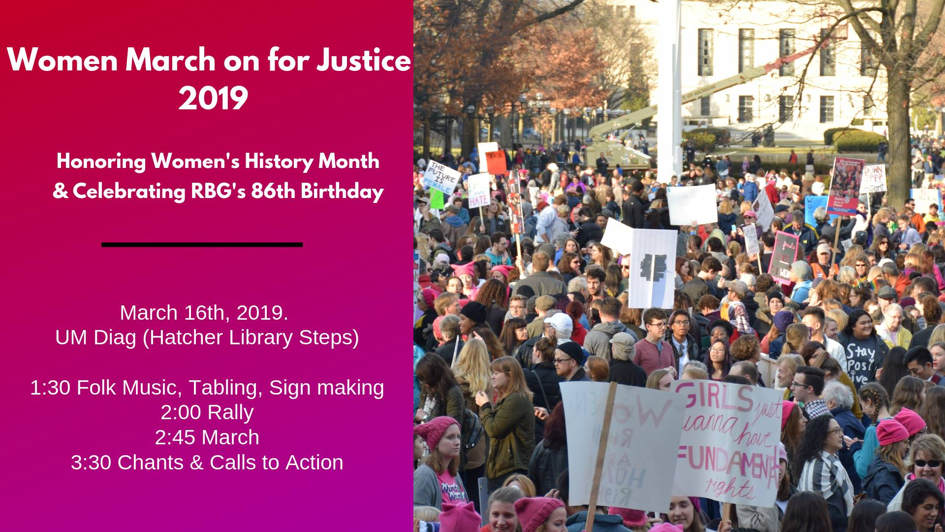 Women March on for Justice