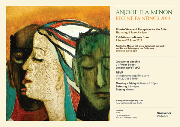 Anjolie Ela Menon London e-invite
