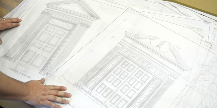 custom millwork drawings created by Driwood Mouldings