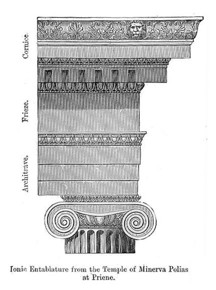 Ionic cornice